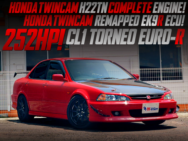 HONDATWINCAM H22TN COMPLETE ENGINE INTO CL1 TORNEO EURO-R TO 252HP.