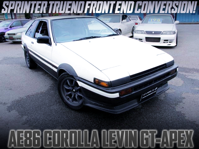 TRUENO FRONT END OF AE86 LEVIN GT-APEX TO HIGH TECH TWO-TONE.