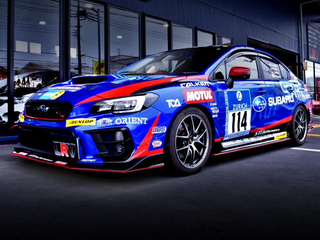 FRONT EXTERIOR OF WRX S4 tS NBR CHALLENGE PACKAGE TO NUR 2015 CHALLENG REPLICA.