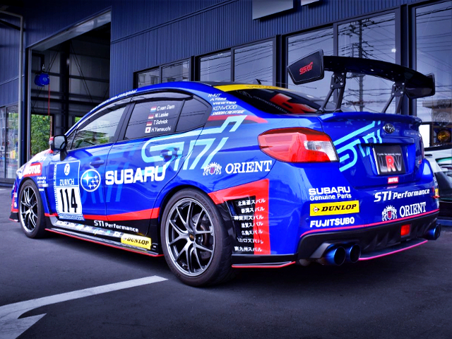 REAR EXTERIOR OF WRX S4 tS NBR CHALLENGE PACKAGE TO NUR 2015 CHALLENG REPLICA.