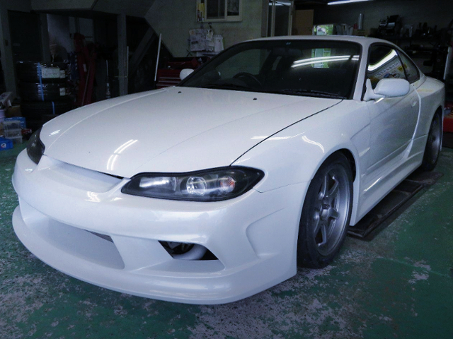 FRONT EXTERIOR OF S15 SILVIA TO VERTEX EDGE WIDEBODY.