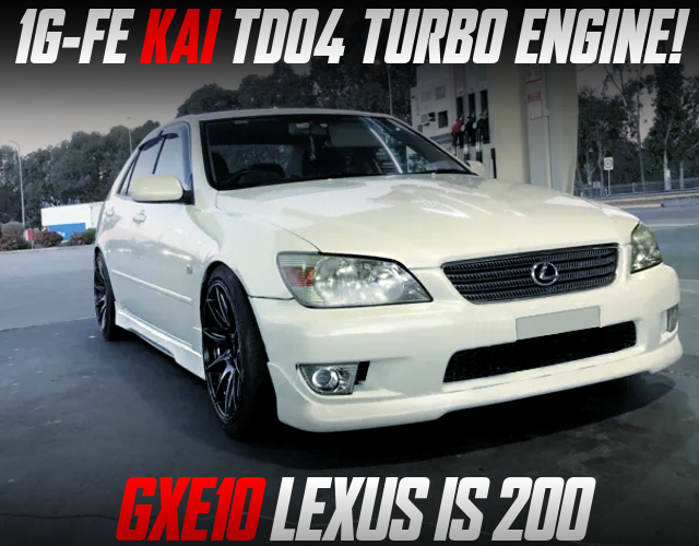 1G-FE with TD04 TURBO into 1st Gen GXE10 LEXUS IS200.
