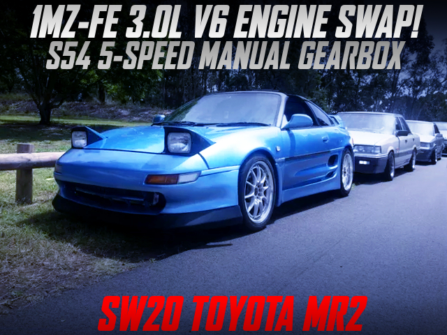 1MZ-FE AND 5MT SWAPPED SW20 TOYOTA MR2 LIGHT BLUE.