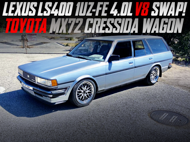 LEXUS LS400 1UZ V8 SWAP AND AT INTO MX72 CRESSIDA WAGON.