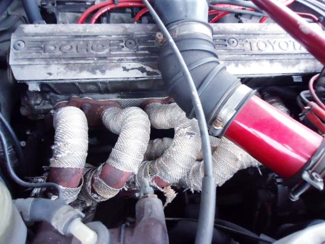 EXHAUST MANIFOLD ON 5M-GEU.
