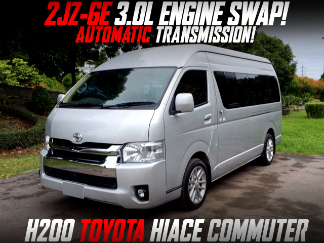 2JZ-GE ENGINE With AUTOMATIC INTO H200 HIACE COMMUTER.