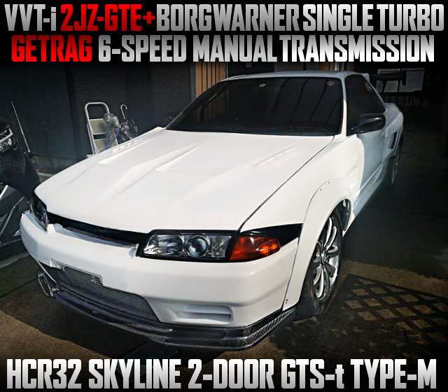 VVT-i 2JZ-GTE SWAP With BORGWARNER SINGLE TURBO AND 6MT INTO HCR32 SKYLINE 2-DOOR.