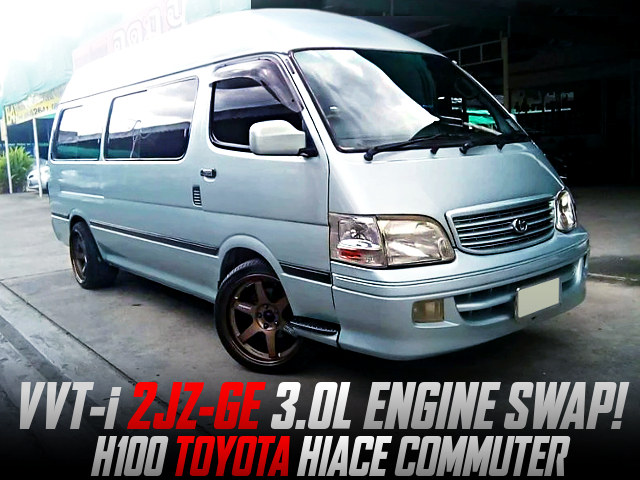 VVT-i 2JZ-GE 3-LITER ENGINE SWAP AND AT INTO H100 HIACE COMMUTER.