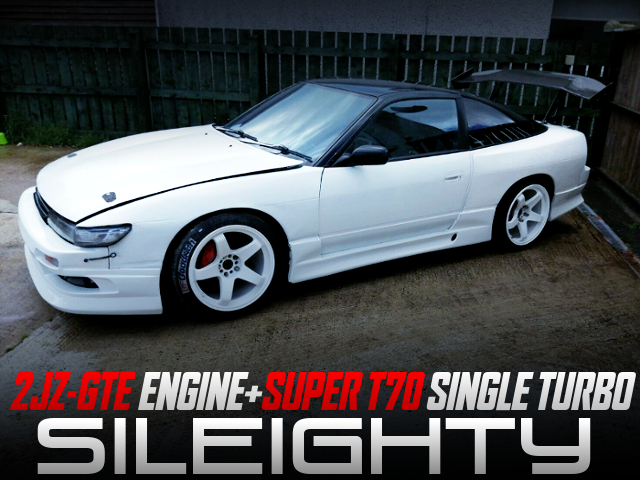 2JZ-GTE With SUPER T70 TURBO INTO SILEIGHTY TO 180SX.