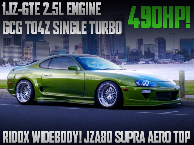 1JZ-GTE With GCG TO4Z TURBO INTO JZA80 SUPRA AERO TOP.