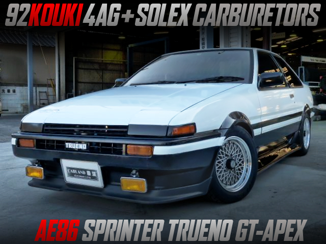 AE92 KOUKI 4AGE With SOLEX CARBS INTO AE86 TRUENO GT APEX.