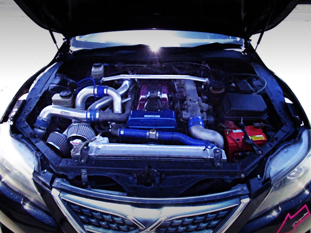 1JZ-GTE 2500cc TWINTURBO ENGINE OF JZX90 MARK2 MOTOR.