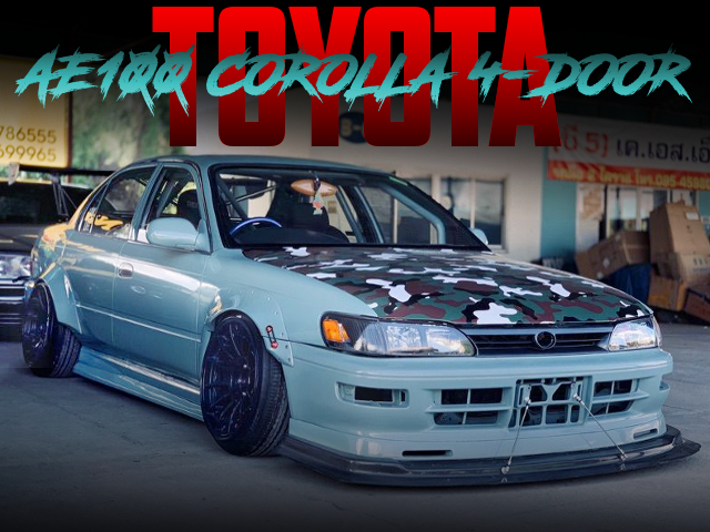 SEMI WORKS AND CAMBER OF AE100 COROLLA 4-DOOR.