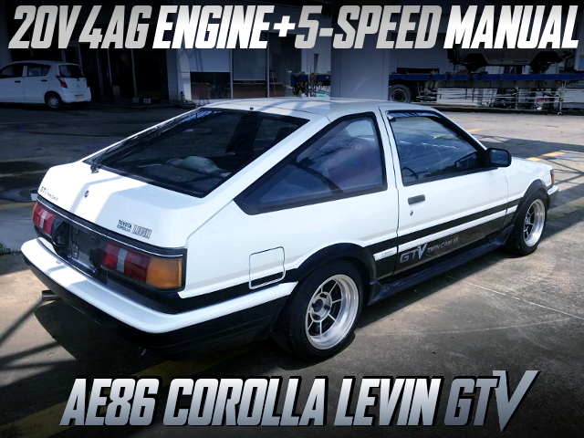 20V 4AG AND 5MT INTO AE86 LEVIN GTV TO HIGH TECH TWO-TONE.