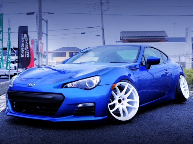 FRONT EXTERIOR OF ZC6 SUBARU BRZ TO CAMBER CUSTOM.