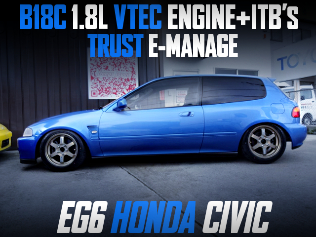 ITBs ON B18C VTEC INTO EG6 CIVIC HATCH.