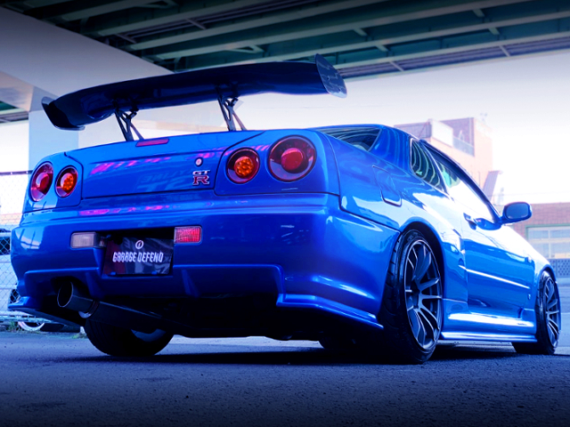 REAR EXTERIOR OF ER34 SKYLINE 25GT-R TO GT-R STYLE.