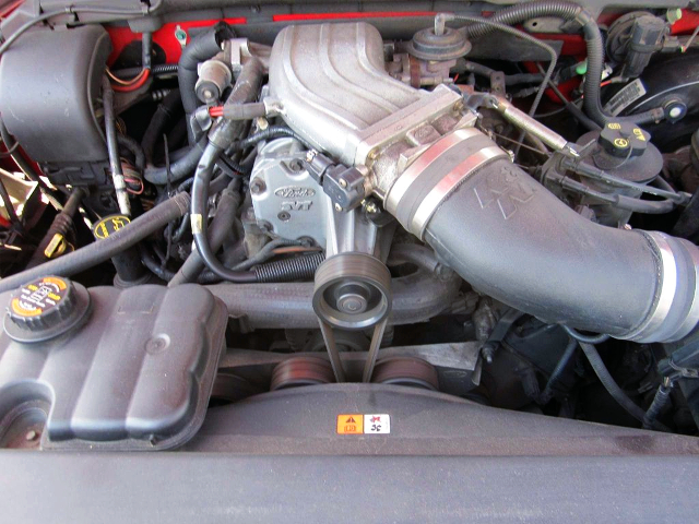 SUPERCHARGED FORD TRITON 5.4-LITER V8.