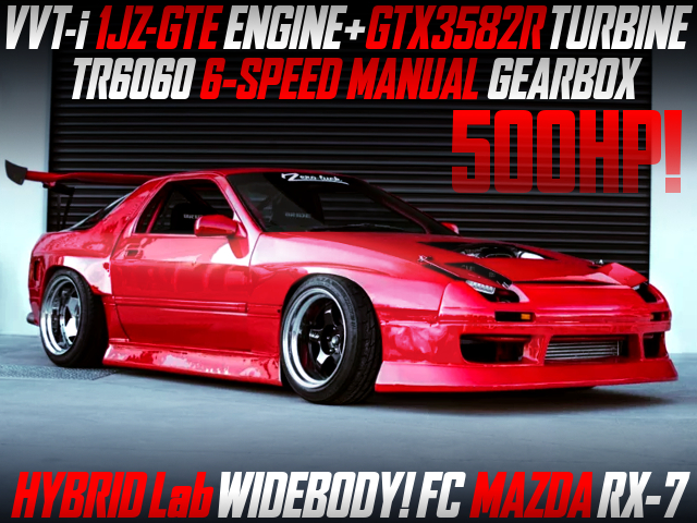 VVTi 1JZ With GTX3582R And 6MT INTO FC RX7 HYBRID Lab WIDEBODY.