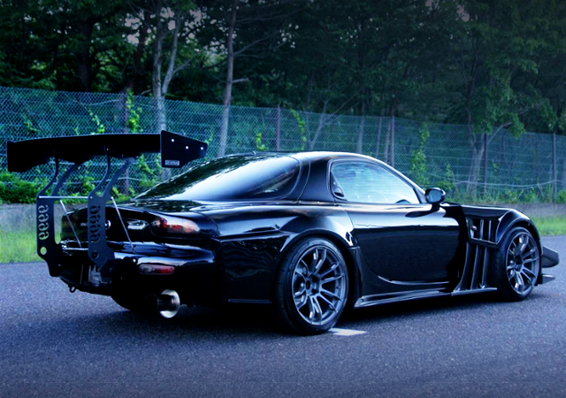 REAR EXTERIOR OF TCP MAGIC G-FACE RX-7.