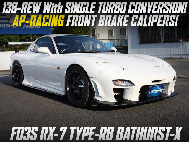SINGLE TURBO CONVERSION AND AP-RACING BRAKE INTO FD3S RX-7.