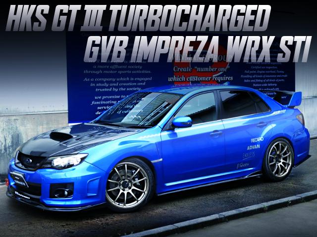 HKS GT3 TURBOCHARGED GVB IMPREZA WRX STI.