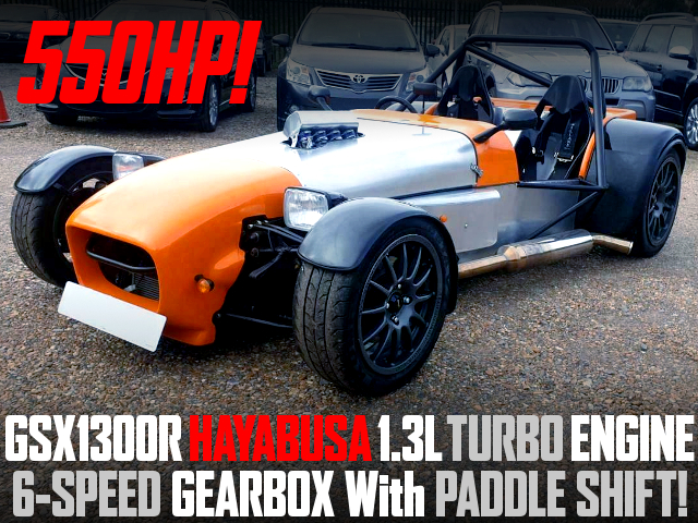 GSX1300R HAYABUSA ENGINE With TURBO INTO DAX RUSH OF SUPER 7 KIT CAR.