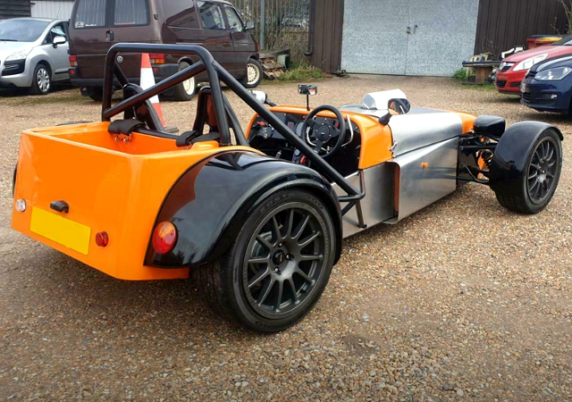 REAR EXTERIOR OF DAX RUSH TO SUPER 7 KIT CAR,