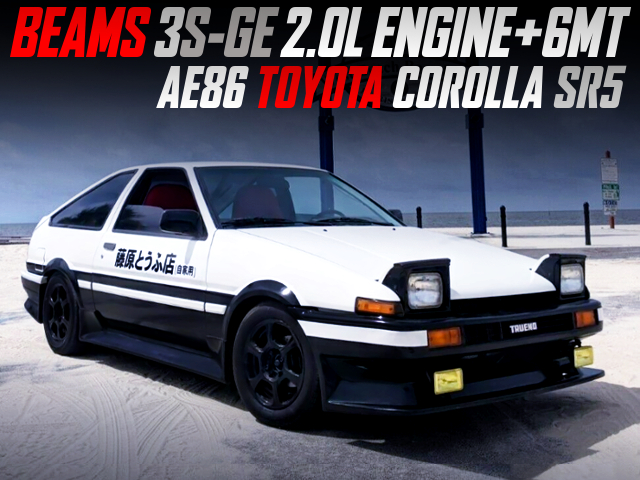 BEAMS 3S-GE AND 6MT SWAPPED AE86 COROLLA SR5 With INITAL D TOFU DELIVERY LOOK.