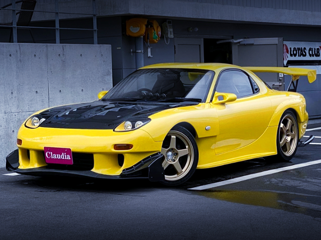 FRONT EXTERIOR OF INITIAL-D REPLICA FD3S RX-7 TO RE-AMEMIYA WIDEBODY.