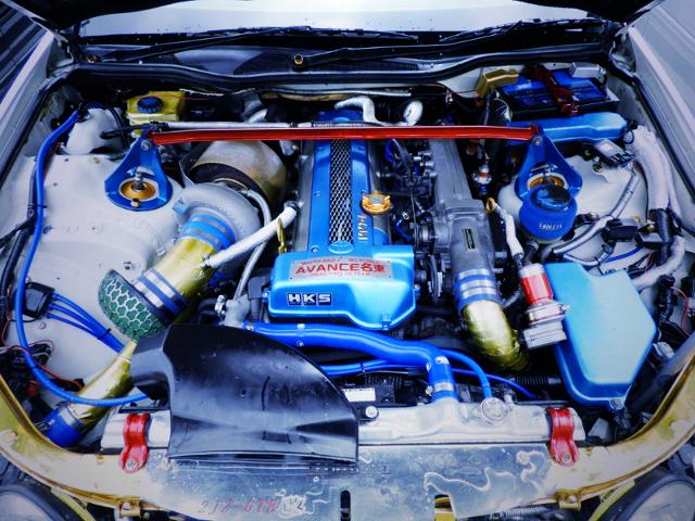 2JZ-GTE 3.1L T78-33D SINGLE TURBO ENGINE.
