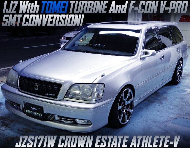1JZ with TOMEI TURBINE AND 5MT CONVERSION INTO JZS171 CROWN ESTATE ATHLETE V.