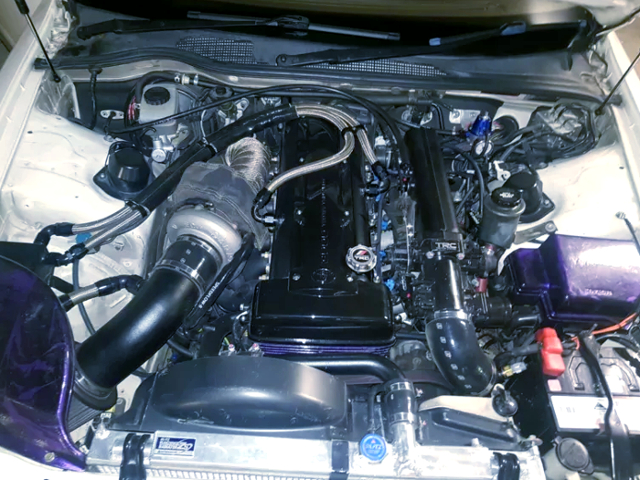 2JZ-GTE SINGLE TURBO ENGINE.