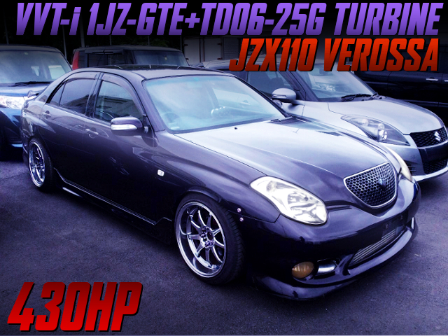 TD06-25G TURBO ON 1JZ-GTE With JZX110 VEROSSA PURPULE.