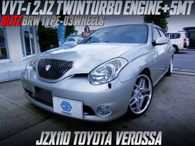 2JZ TWINTURBO SWAP AND 5MT INTO JZX110 VEROSSA With BLITZ BRW03 WHEELS.