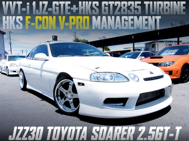 1JZ With GT2835 AND F-CON V-PRO INTO JZZ30 SOARER WHITE.
