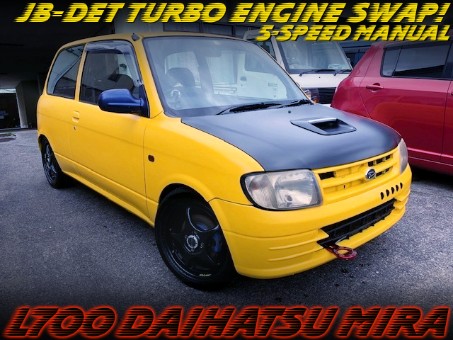 JB-DET TURBO ENGINE SWAP AND 5MT INTO L700 MIRA YELLOW.