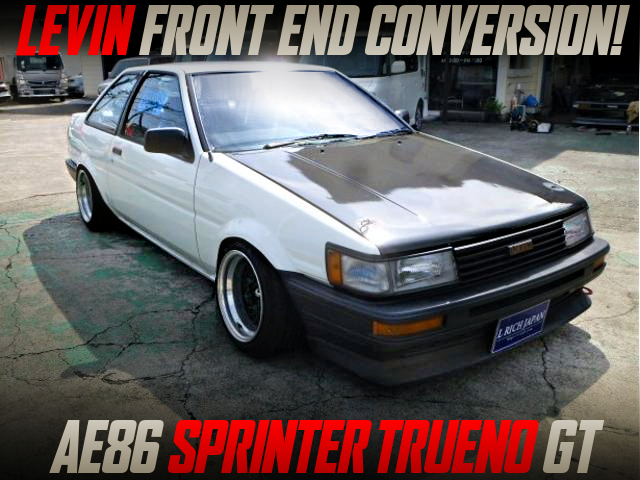 LEVIN FRONT END CONVERSION With AE86 TRUENO GT.