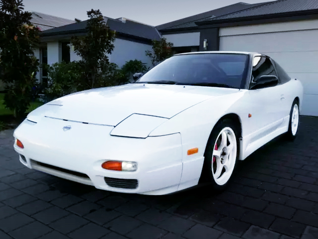 FRONT EXTERIOR OF 180SX PEARL WHITE