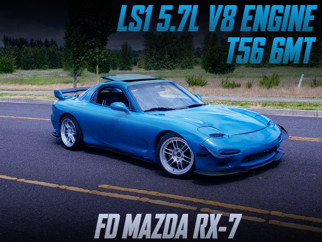 LS1 5.7-LITER V8 AND T56 6MT SWAPPED FD RX-7.