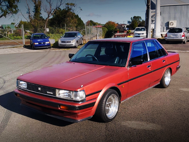 FRONT EXTERIOR OF X70 CRESSIDA TO RED COLOR.