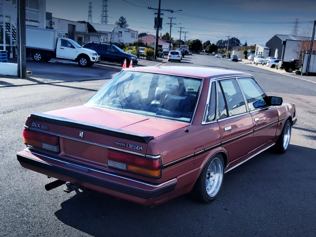REAR EXTERIOR OF X70 CRESSIDA TO RED COLOR.