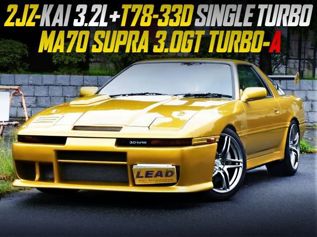 2JZ-GTE 3.2-liter BUILD AND T78-33D SINGLE TURBO INTO MA70 SUPRA 3.0GT TURBO-A.