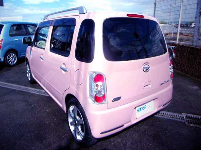 REAR EXTERIOR OF L675S MIRA COCOA PINK.
