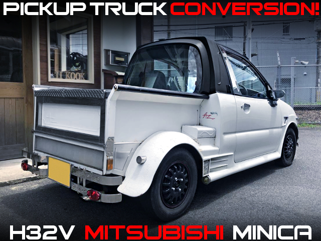 CLASSIC AMERICAN STYLE OF PICKUP TRUCK CONVERSION WITH H32V MINICA.