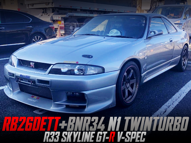 BNR34 N1 TWIN TURBOCHARGED R33 GT-R V-SPEC SILVER.