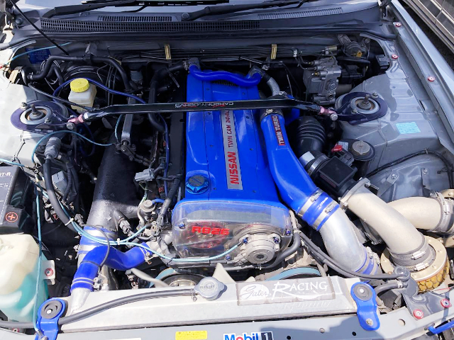 R33GT-R RB26 TWINTURBO ENGINE.