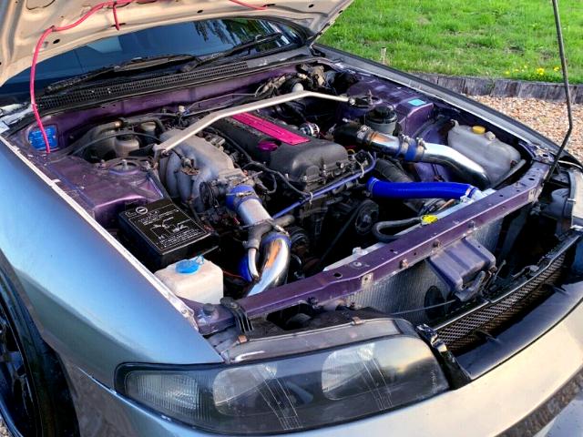 BLACK TOP SR20DET TURBO ENGINE.