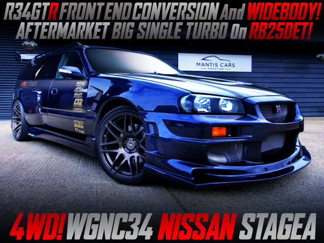 R34GTR FRONT END AND WIDEBODY With WGNC34 STAGEA.