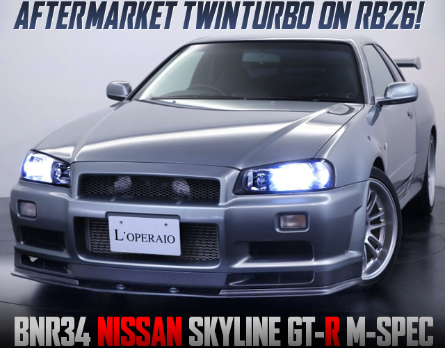 AFTERMARKET TWINTURBO ON RB26DETT WITH R34 SKYLINE GT-R M-SPEC.
